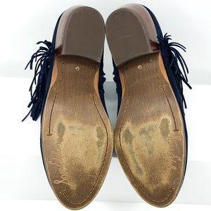 Sam Edelman Shoes - Sam Edelman Sz 6 Blue Suede Paige Fringe Booties